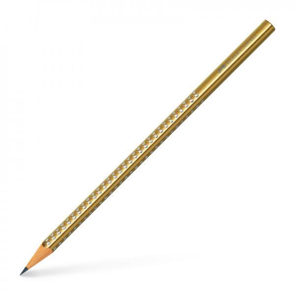 Creion Grafit B Sparkle Auriu 2019 Faber-Castell 0