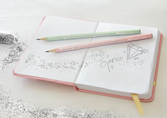 Creion Grafit B Sparkle Rose 2019 Faber-Castell 1