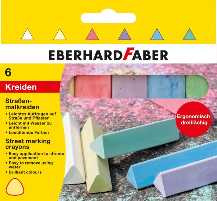 CRETA 6 CULORI TRIUNGHIULARE DESEN ASFALT EberhardFaber 0