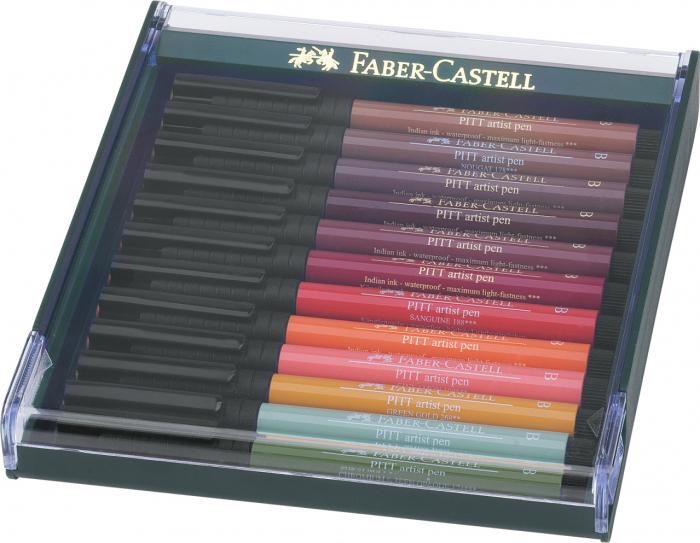 Cutie 12 Culori Pitt Artist Pen Nuante Earth Faber-Castell 0