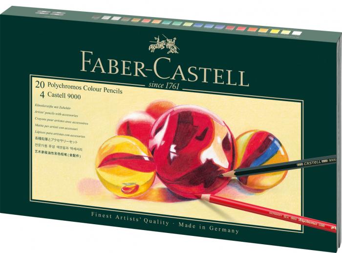 Set Cadou 20 Creioane Collorate Polychromos+Accesorii Faber-Castell 0