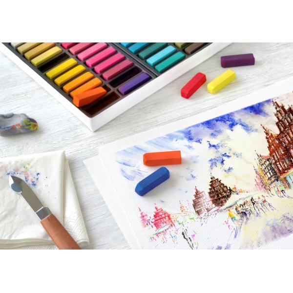 Cutie Creioane Pastel Soft Mini 48 culori Faber-Castell 1