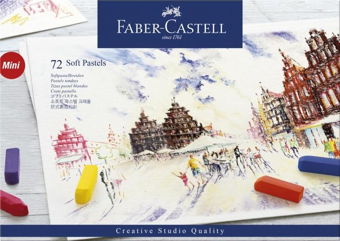Cutie Creioane Pastel Soft Mini 72 culori Faber-Castell 0