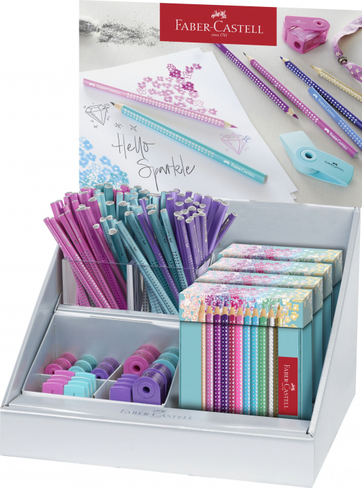 DISPLAY CONCEPT SPARKLE 1 (CR GRAFIT, CR COLORATE+SLEEVE) FABER CASTELL 0