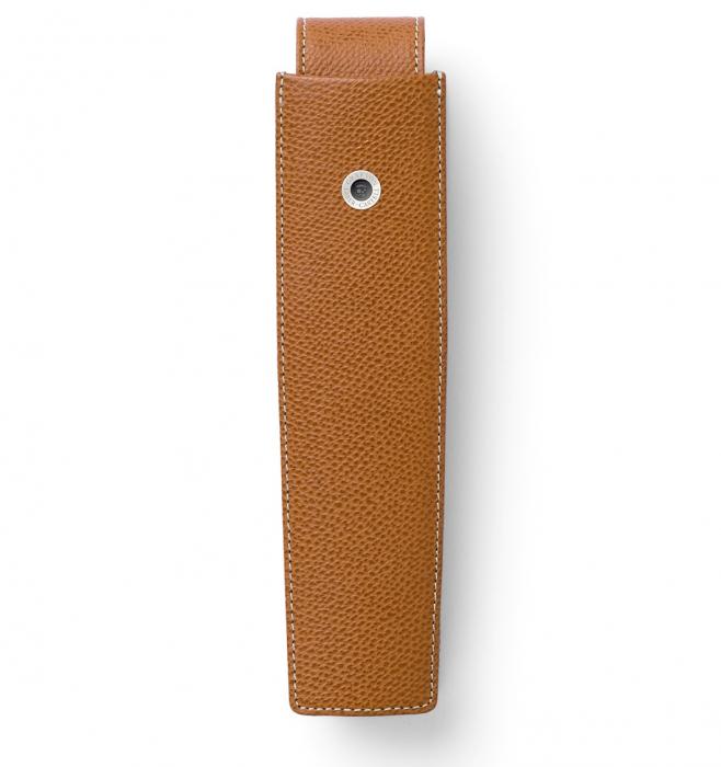 Etui 1 Instrument de Scris Piele Granulata Cognac, Pen of The Year, Graf Von Faber-Castell 0