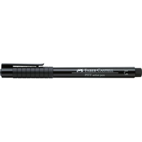 Pitt Artist Pen 1.5 mm Negru Faber-Castell 1