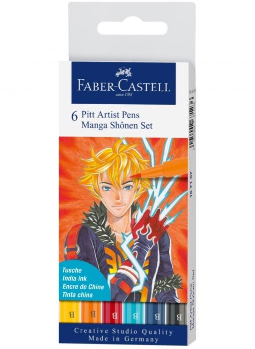 Pitt Artist Pen Manga SET 6 Shonen 2019 Faber-Castell 0