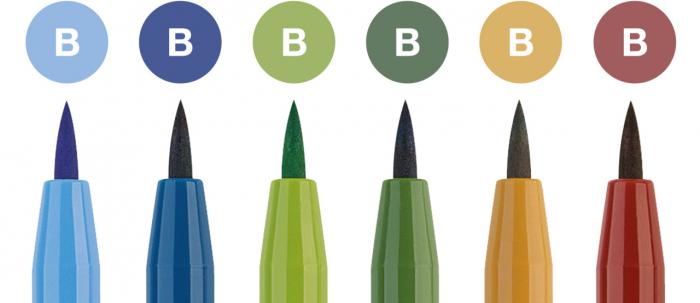 Pitt Artist Pen Set 6 buc, nuante natural Faber-Castell 1