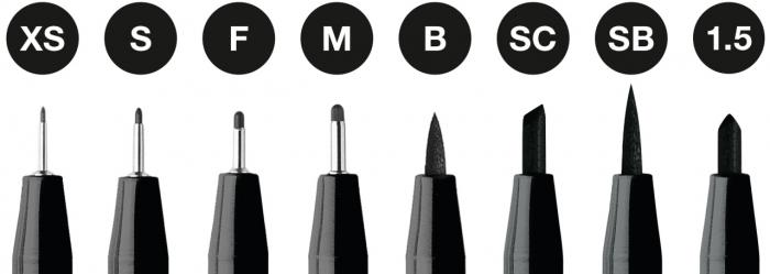Pitt Artist Pen Set 8 Buc Negru Faber-Castell 1