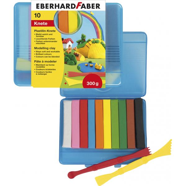 PLASTILINA 10 CULORI CUTIE PLASTIC EberhardFaber 0