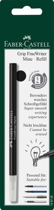 Rezerva Finewritter Black Faber-Castell 1