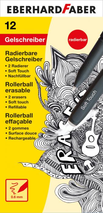 Roller 0.6MM Negru ERASE IT! EberhardFaber 2