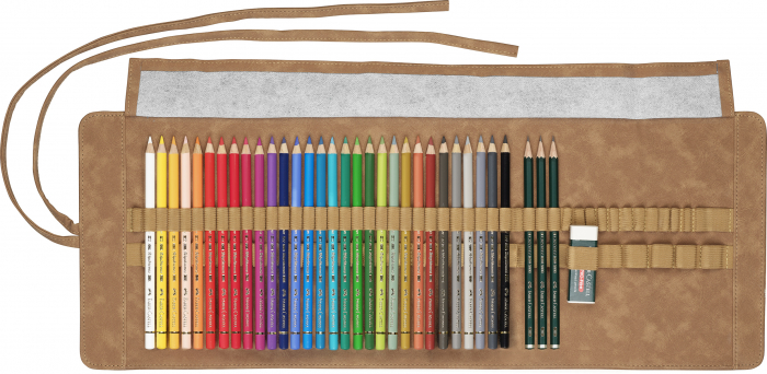 Rollup 30 Creioane Colorate Polychromos + 3 Creioane Faber-Castell 9000 Faber-Castell 1