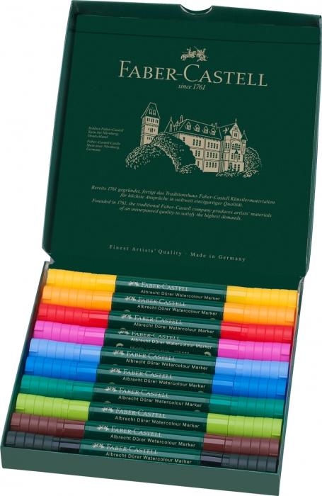 Set 10 Markere Solubile Albrecht Durer Faber-Castell 1