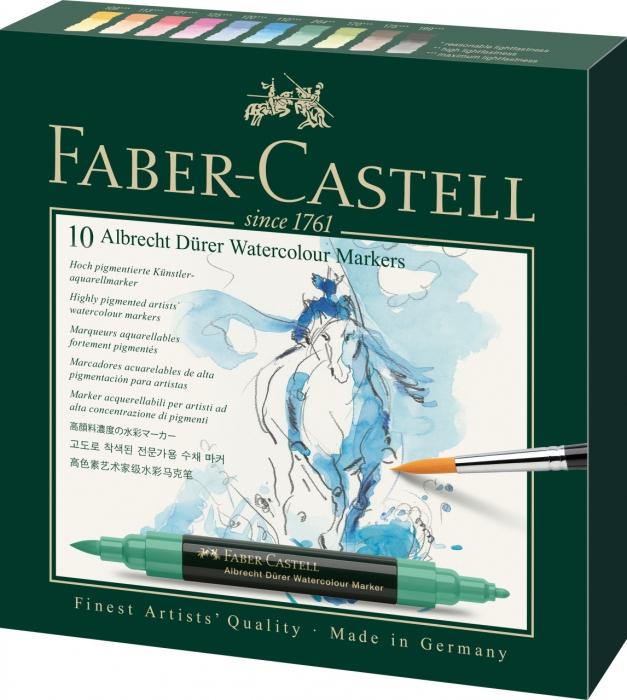 Set 10 Markere Solubile Albrecht Durer Faber-Castell 0