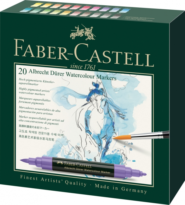 Set 20 Markere Solubile Albrecht Durer Faber-Castell 0