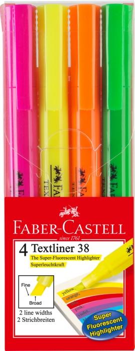 Set 4 Buc Textmarker 38 Faber-Castell 0