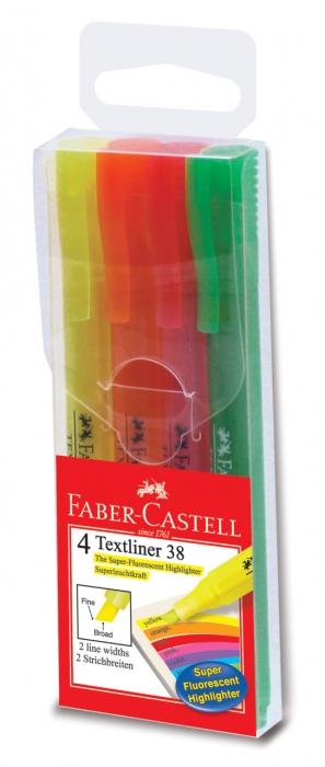 Set 4 Buc Textmarker 38 Faber-Castell 1