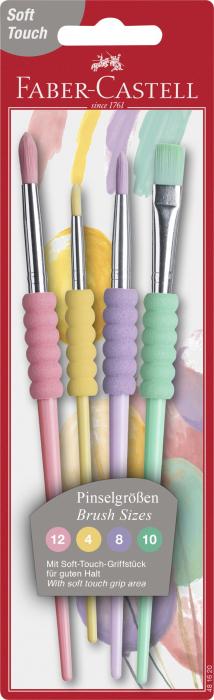 Set 4 Pensule Soft Touch Pastel Faber-Castell 0