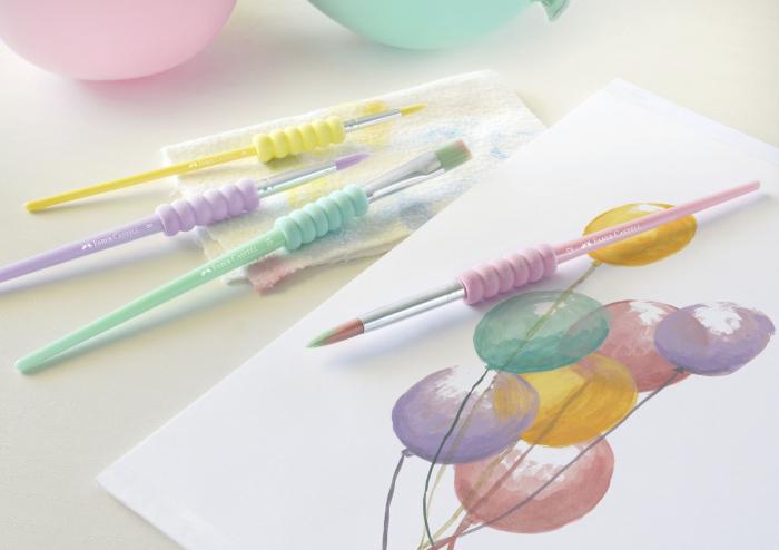 Set 4 Pensule Soft Touch Pastel Faber-Castell 1