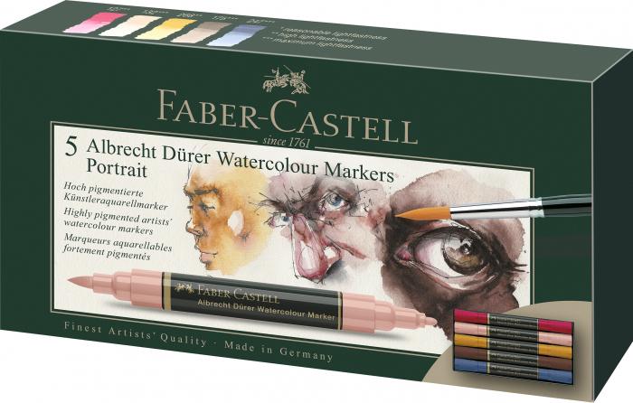 Set 5 Markere Solubile Portret A.Durer Faber-Castell 0