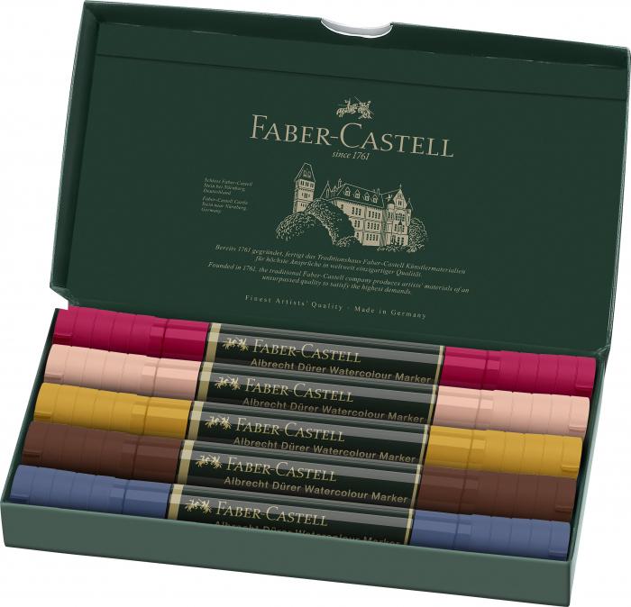 Set 5 Markere Solubile Portret A.Durer Faber-Castell 1
