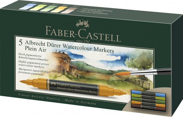 Set 5 Markere Solubile Peisaj A.Durer Faber-Castell 0