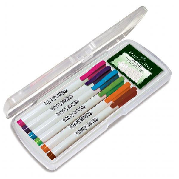 Set 6 culori Pastel Marker Whiteboard Slim 1560 Faber-Castell 0
