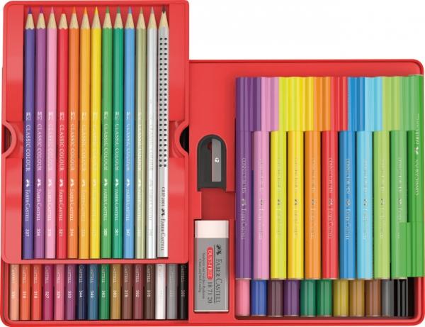 Set Cadou Carioci Connector + Creioane Colorate 53 BUC 1