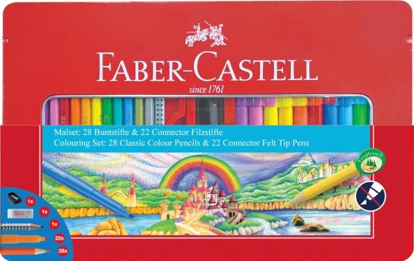 Set Cadou Carioci Connector + Creioane Colorate 53 BUC 0