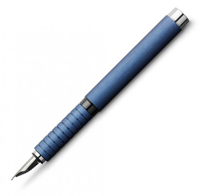 Set Cadou Stilou + Pix Essentio Aluminium Blue Faber-Castell 1