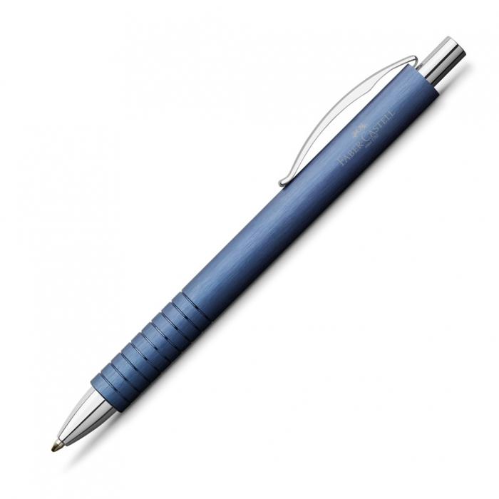 Set Cadou Stilou + Pix Essentio Aluminium Blue Faber-Castell 2