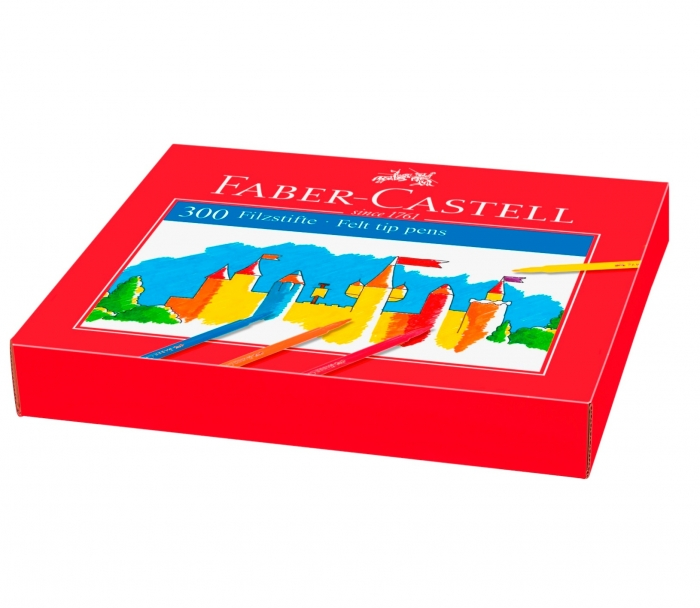 SET PT O CLASA CUTIE CARTON 300 CARIOCI FABER-CASTELL 1