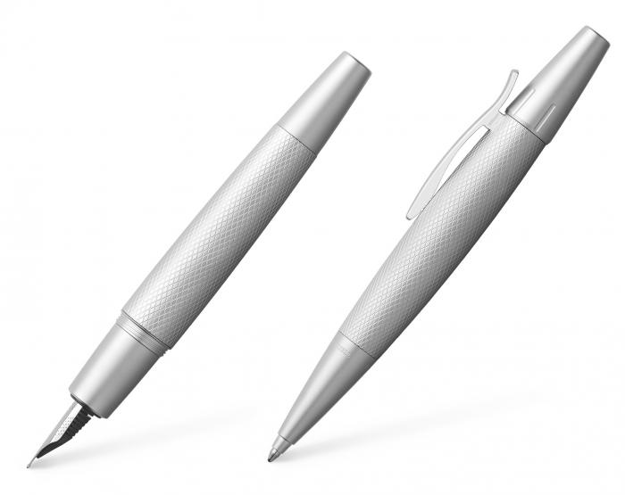 Set Stilou + Pix E-motion Pure Silver in Cutie Design Faber-Castell 0