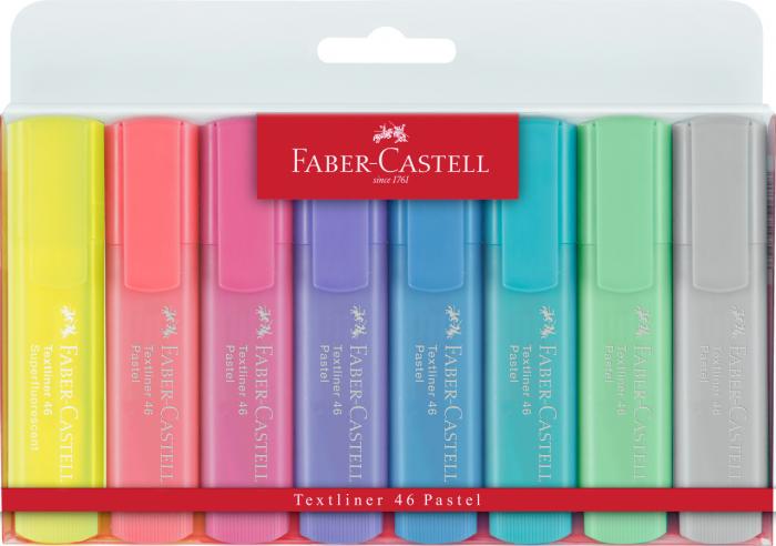 TEXTMARKER SET 8 (7 PASTEL + 1 GALBEN) 1546 FABER-CASTELL 0