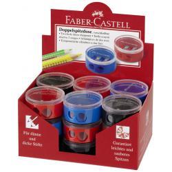 Ascutitoare Plastic Dubla Cu Container Twist Off Rosie/Albastra Faber-Castell3