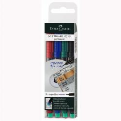 Set 4 culori Marker Permanent S Multimark Faber-Castell0