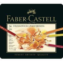 Creioane Colorate Polychromos 24 Culori Cutie Metal Faber-Castell0