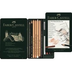 Set Pitt Monochrome 12 Buc Nou Faber-Castell0