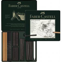 Set Pitt Monochrome Carbune 24 Buc Faber-Castell0