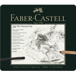 Set Pitt Monochrome Carbune 24 Buc Faber-Castell1