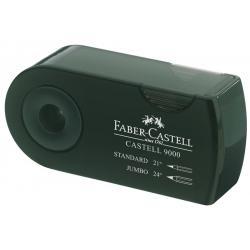 Ascutitoare Plastic Dubla Sleeve Verde Faber-Castell0