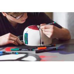 Set 8 culori Marker Permanent M Multimark Faber-Castell6