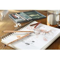 Creion Ulei Rosu Sangvin Pitt Monochrome Faber-Castell2