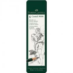 Set 6 Buc Creion Grafit Castell 9000 Faber-Castell1