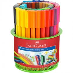 Carioca 45 Culori Connector in Suport Mesh Faber-Castell0