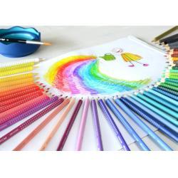 Creioane Colorate Grip 2001 48 Culori Cutie Metal Faber-Castell2