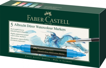 Set 5 Markere Solubile Albrecht Durer Faber-Castell0
