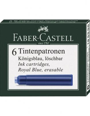 Cartuse Cerneala Mici Faber-Castell Albastru 6 buc/cutie0