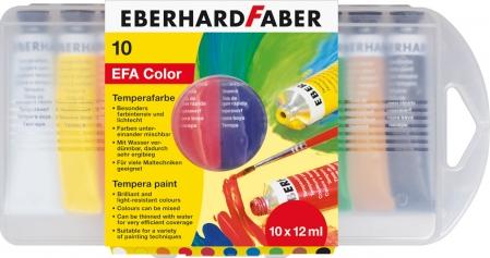 TEMPERA 10 CULORI 12 ML CUT PLASTIC EBERHARD FABER0